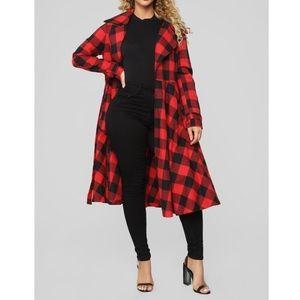 Fashion Nova Buffalo Plaid You Are My Trench Coat